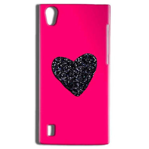 Vivo Y15 Mobile Covers Cases Pink Glitter Heart - Lowest Price - Paybydaddy.com
