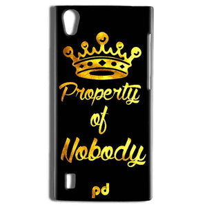 Vivo Y15 Mobile Covers Cases Property of nobody with Crown - Lowest Price - Paybydaddy.com