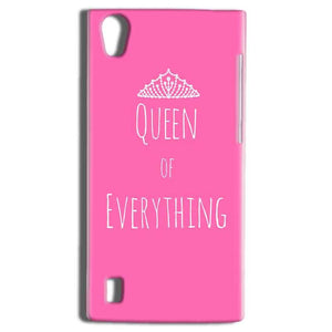 Vivo Y15 Mobile Covers Cases Queen Of Everything Pink White - Lowest Price - Paybydaddy.com