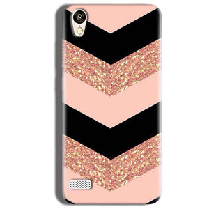 Vivo Y18L Mobile Covers Cases Black down arrow Pattern - Lowest Price - Paybydaddy.com