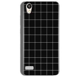 Vivo Y18L Mobile Covers Cases Black with White Checks - Lowest Price - Paybydaddy.com