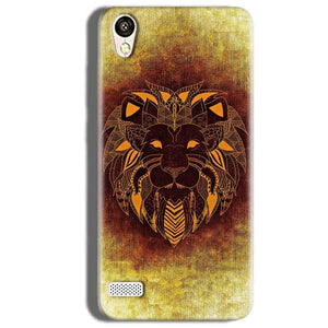 Vivo Y18L Mobile Covers Cases Lion face art - Lowest Price - Paybydaddy.com