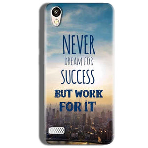 Vivo Y18L Mobile Covers Cases Never Dreams For Success But Work For It Quote - Lowest Price - Paybydaddy.com