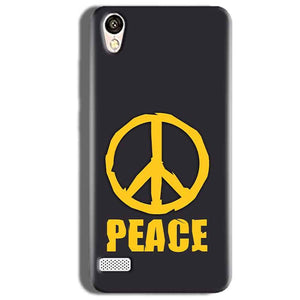 Vivo Y18L Mobile Covers Cases Peace Blue Yellow - Lowest Price - Paybydaddy.com