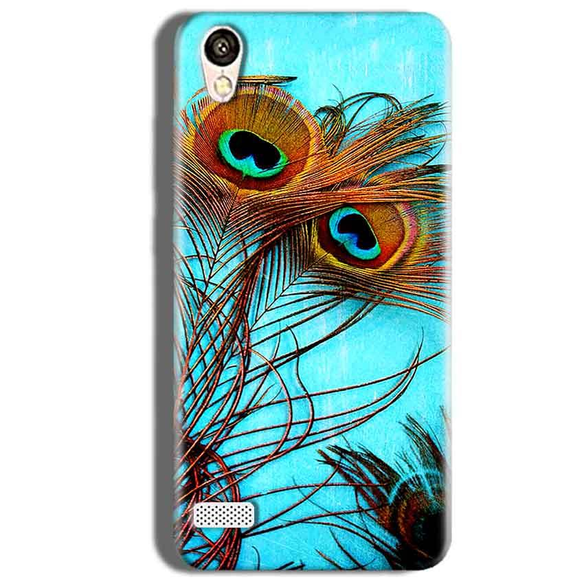 Vivo Y18L Mobile Covers Cases Peacock blue wings - Lowest Price - Paybydaddy.com