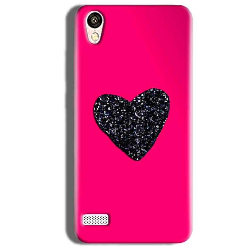 Vivo Y18L Mobile Covers Cases Pink Glitter Heart - Lowest Price - Paybydaddy.com