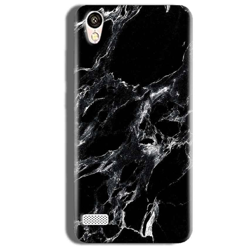 Vivo Y18L Mobile Covers Cases Pure Black Marble Texture - Lowest Price - Paybydaddy.com