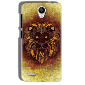Vivo Y21 Mobile Covers Cases Lion face art - Lowest Price - Paybydaddy.com