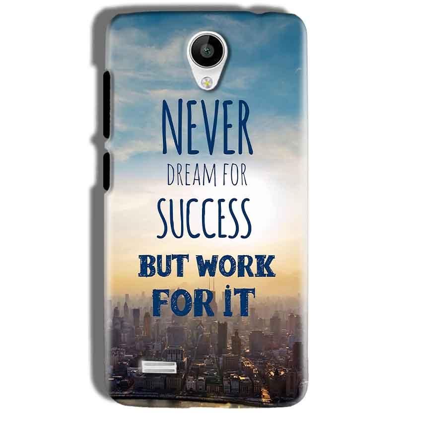 Vivo Y21 Mobile Covers Cases Never Dreams For Success But Work For It Quote - Lowest Price - Paybydaddy.com
