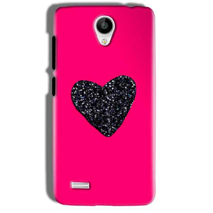 Vivo Y21 Mobile Covers Cases Pink Glitter Heart - Lowest Price - Paybydaddy.com