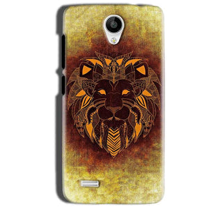 Vivo Y22 Mobile Covers Cases Lion face art - Lowest Price - Paybydaddy.com
