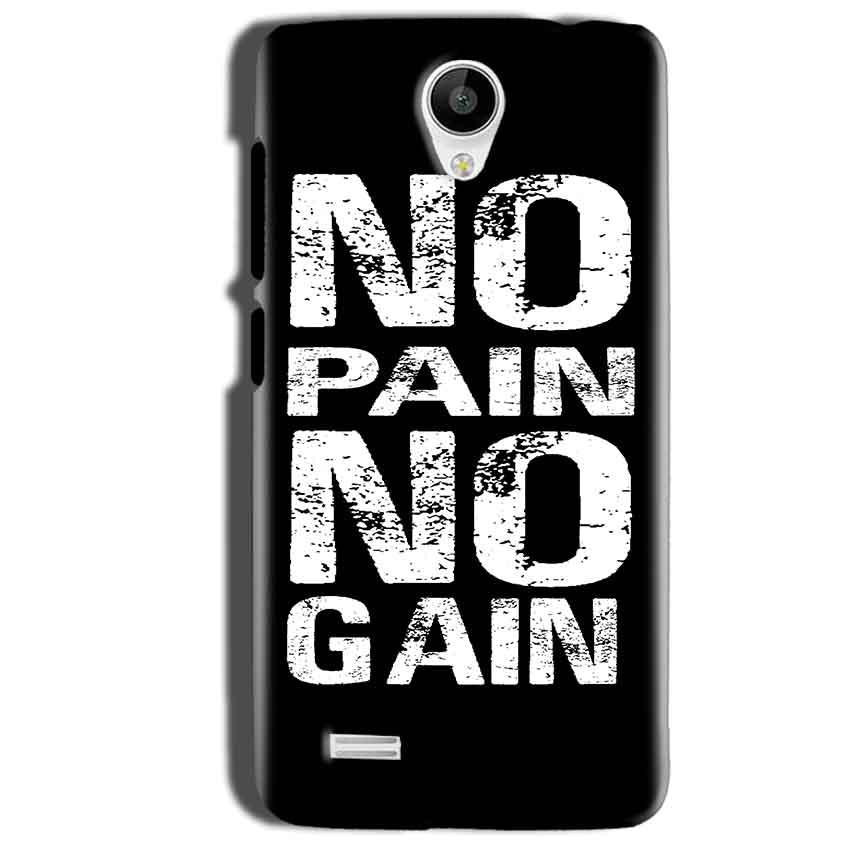 Vivo Y22 Mobile Covers Cases No Pain No Gain Black And White - Lowest Price - Paybydaddy.com