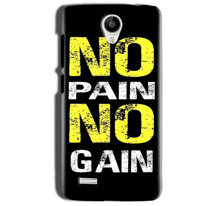 Vivo Y22 Mobile Covers Cases No Pain No Gain Yellow Black - Lowest Price - Paybydaddy.com