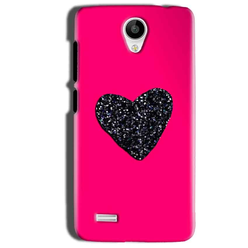 Vivo Y22 Mobile Covers Cases Pink Glitter Heart - Lowest Price - Paybydaddy.com