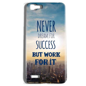 Vivo Y27 Mobile Covers Cases Never Dreams For Success But Work For It Quote - Lowest Price - Paybydaddy.com