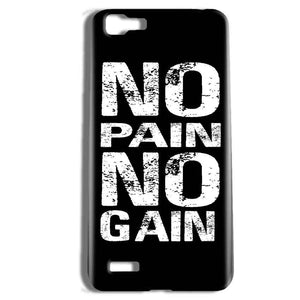 Vivo Y27 Mobile Covers Cases No Pain No Gain Black And White - Lowest Price - Paybydaddy.com
