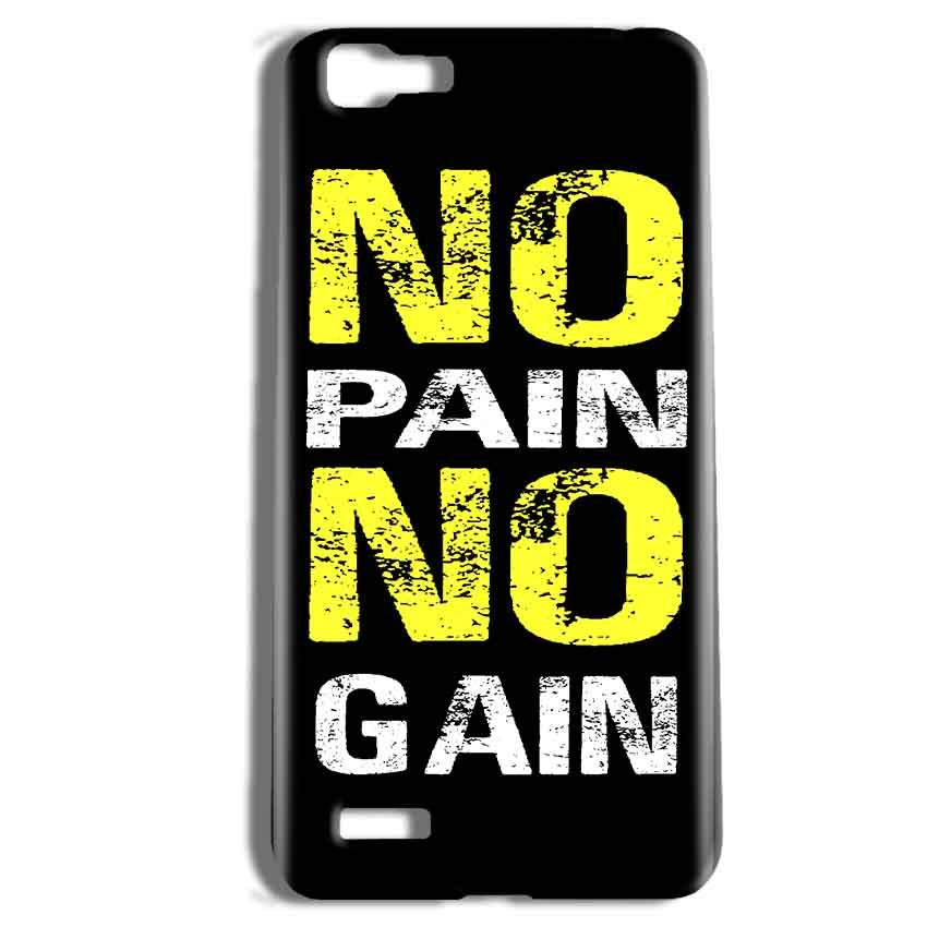 Vivo Y27 Mobile Covers Cases No Pain No Gain Yellow Black - Lowest Price - Paybydaddy.com