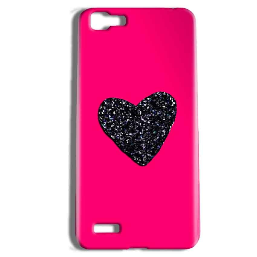 Vivo Y27 Mobile Covers Cases Pink Glitter Heart - Lowest Price - Paybydaddy.com