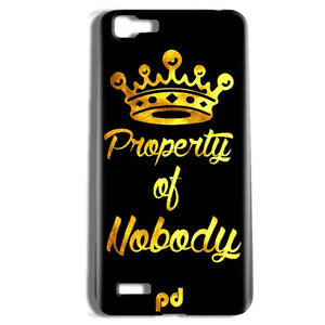 Vivo Y27 Mobile Covers Cases Property of nobody with Crown - Lowest Price - Paybydaddy.com