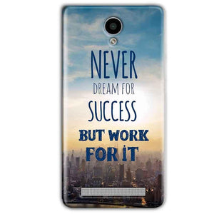 Vivo Y28 Mobile Covers Cases Never Dreams For Success But Work For It Quote - Lowest Price - Paybydaddy.com