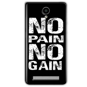 Vivo Y28 Mobile Covers Cases No Pain No Gain Black And White - Lowest Price - Paybydaddy.com