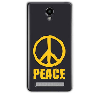 Vivo Y28 Mobile Covers Cases Peace Blue Yellow - Lowest Price - Paybydaddy.com