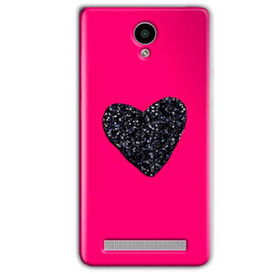Vivo Y28 Mobile Covers Cases Pink Glitter Heart - Lowest Price - Paybydaddy.com