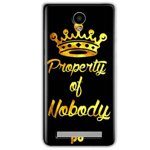 Vivo Y28 Mobile Covers Cases Property of nobody with Crown - Lowest Price - Paybydaddy.com