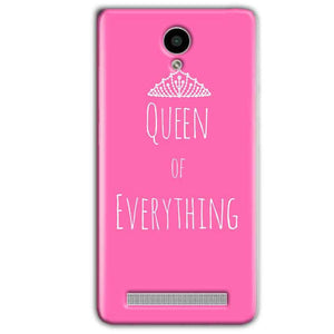 Vivo Y28 Mobile Covers Cases Queen Of Everything Pink White - Lowest Price - Paybydaddy.com