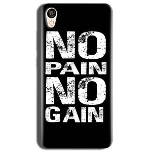 Vivo Y51L Mobile Covers Cases No Pain No Gain Black And White - Lowest Price - Paybydaddy.com