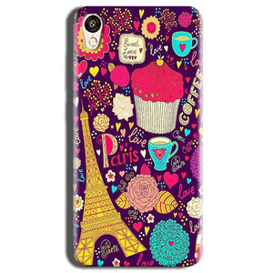 Vivo Y51L Mobile Covers Cases Paris Sweet love - Lowest Price - Paybydaddy.com