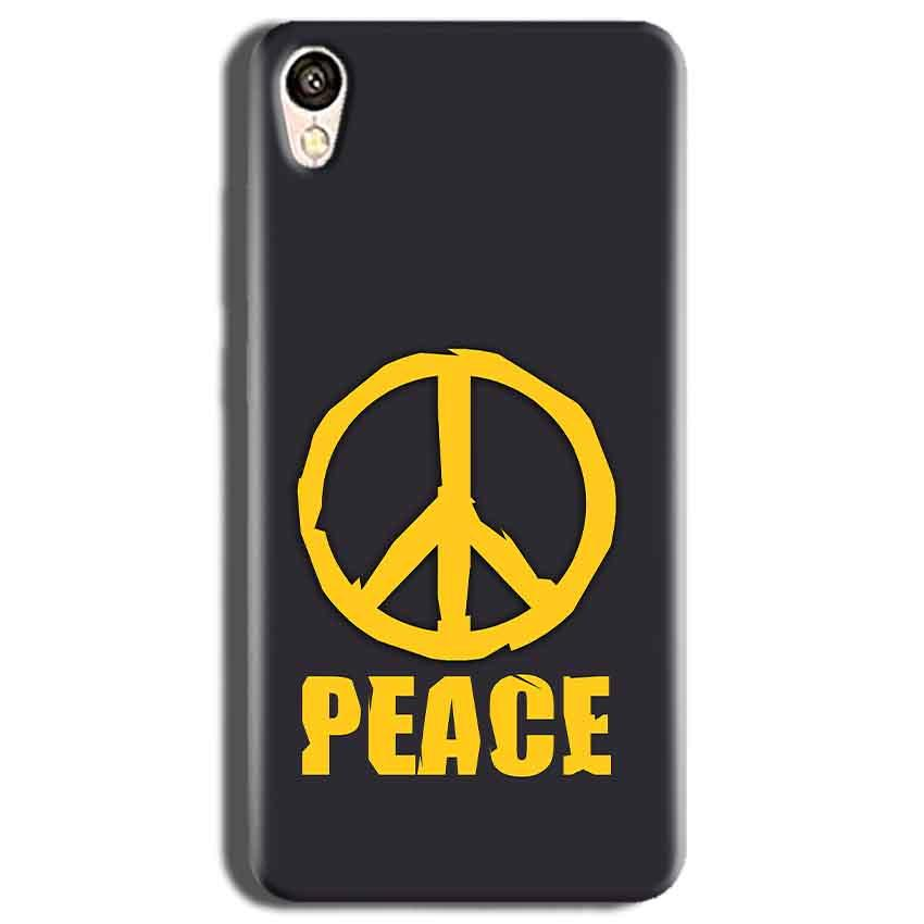 Vivo Y51L Mobile Covers Cases Peace Blue Yellow - Lowest Price - Paybydaddy.com