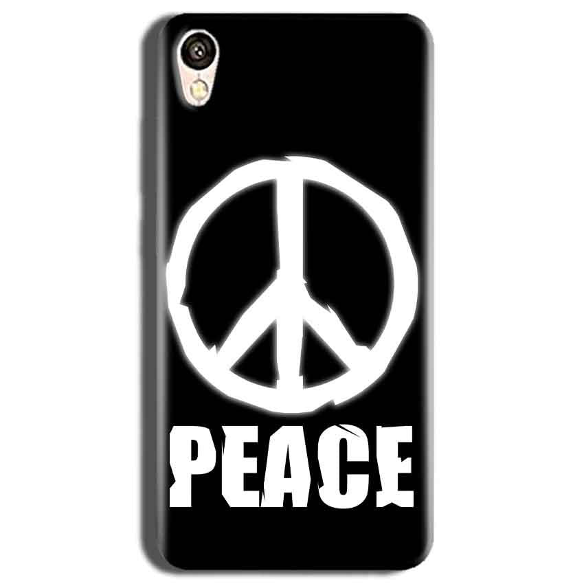 Vivo Y51L Mobile Covers Cases Peace Sign In White - Lowest Price - Paybydaddy.com