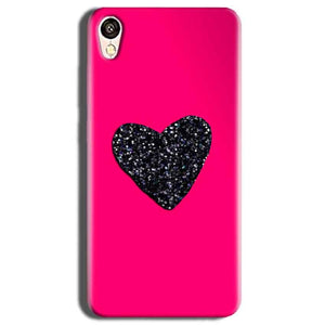 Vivo Y51L Mobile Covers Cases Pink Glitter Heart - Lowest Price - Paybydaddy.com