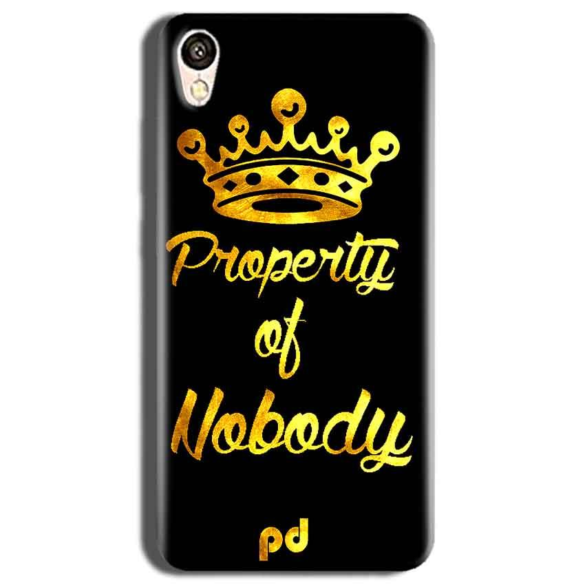 Vivo Y51L Mobile Covers Cases Property of nobody with Crown - Lowest Price - Paybydaddy.com