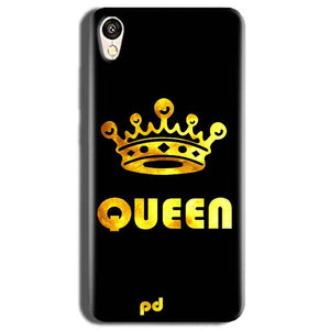 Vivo Y51L Mobile Covers Cases Queen With Crown in gold - Lowest Price - Paybydaddy.com