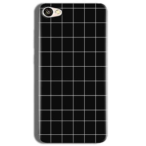 Vivo Y53 Mobile Covers Cases Black with White Checks - Lowest Price - Paybydaddy.com