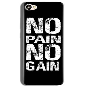 Vivo Y53 Mobile Covers Cases No Pain No Gain Black And White - Lowest Price - Paybydaddy.com