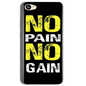 Vivo Y53 Mobile Covers Cases No Pain No Gain Yellow Black - Lowest Price - Paybydaddy.com