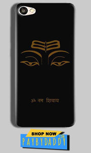 Vivo Y53 Mobile Covers Cases Om Namaha Gold Black - Lowest Price - Paybydaddy.com