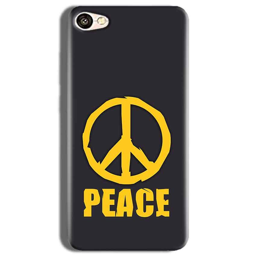 Vivo Y53 Mobile Covers Cases Peace Blue Yellow - Lowest Price - Paybydaddy.com