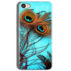 Vivo Y53 Mobile Covers Cases Peacock blue wings - Lowest Price - Paybydaddy.com