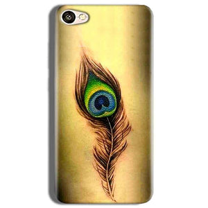 Vivo Y53 Mobile Covers Cases Peacock coloured art - Lowest Price - Paybydaddy.com