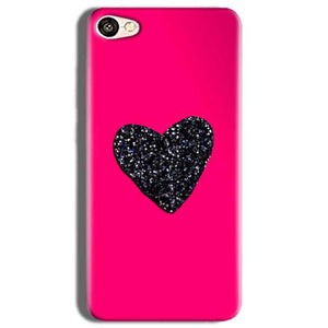 Vivo Y53 Mobile Covers Cases Pink Glitter Heart - Lowest Price - Paybydaddy.com