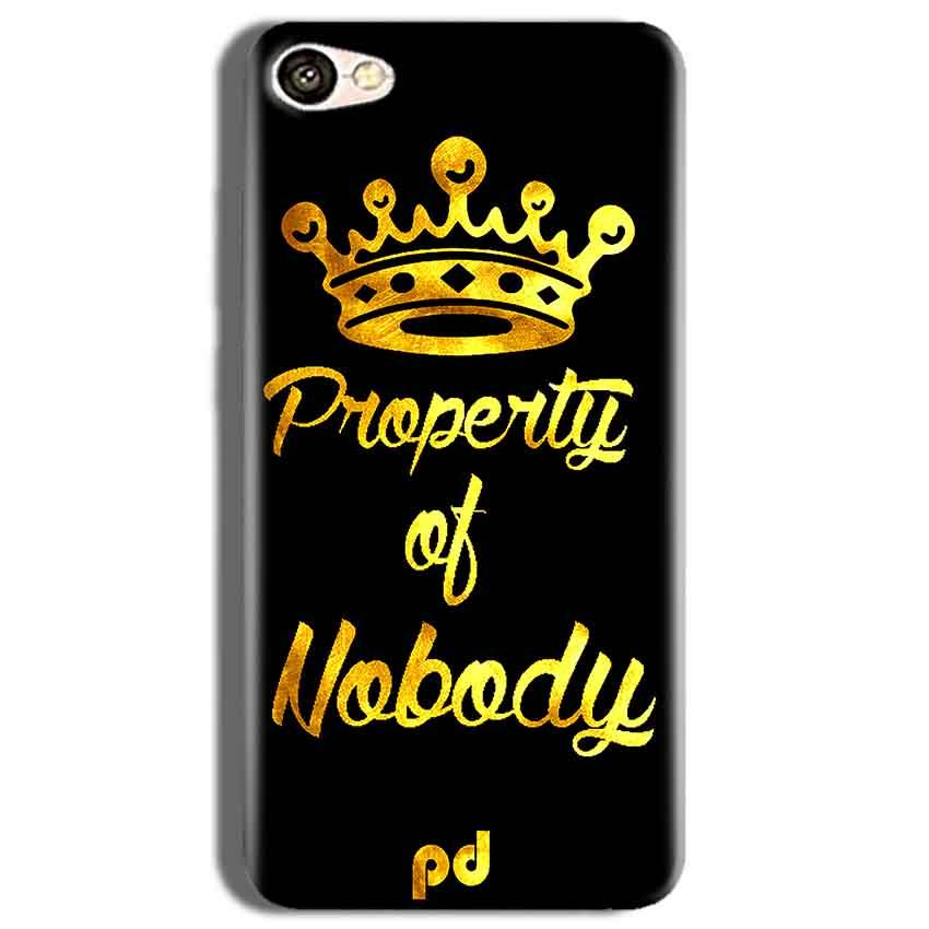 Vivo Y53 Mobile Covers Cases Property of nobody with Crown - Lowest Price - Paybydaddy.com