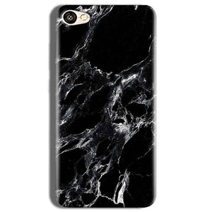 Vivo Y53 Mobile Covers Cases Pure Black Marble Texture - Lowest Price - Paybydaddy.com