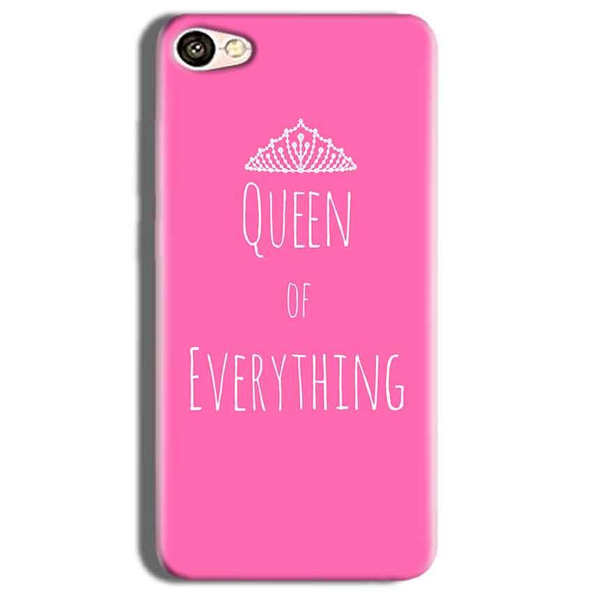 Vivo Y53 Mobile Covers Cases Queen Of Everything Pink White - Lowest Price - Paybydaddy.com