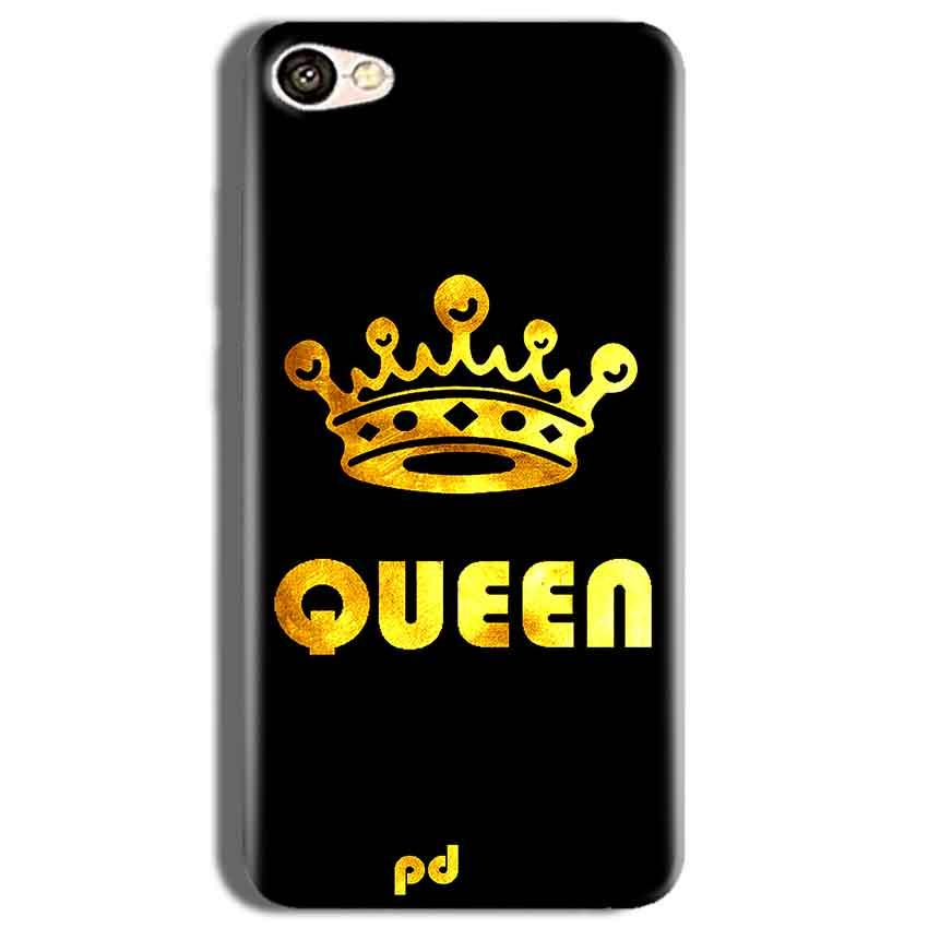 Vivo Y53 Mobile Covers Cases Queen With Crown in gold - Lowest Price - Paybydaddy.com