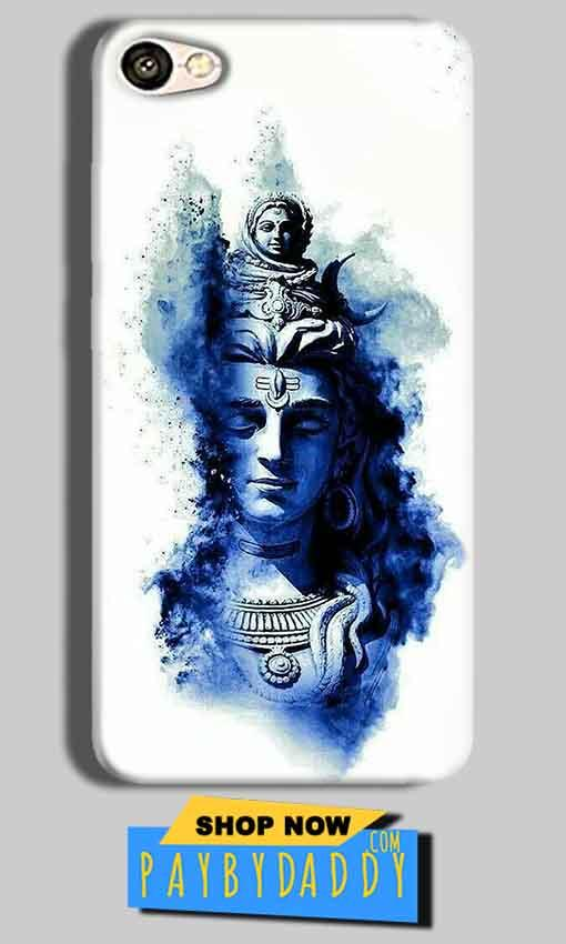Vivo Y53 Mobile Covers Cases Shiva Blue White - Lowest Price - Paybydaddy.com