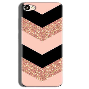 Vivo Y55L Mobile Covers Cases Black down arrow Pattern - Lowest Price - Paybydaddy.com